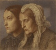 Dante Gabriel Rossetti, Christina Rossetti; Frances Mary Lavinia Rossetti (née Polidori)